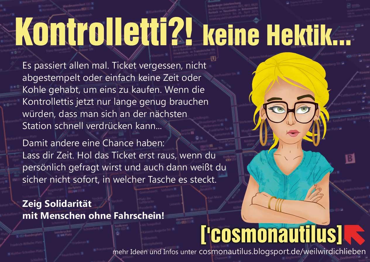 Keine Hektik – solidarisch Bahnfahren.
